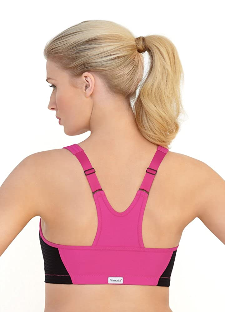 65d17f2bcf0 Glamorise Women s Full Figure High Impact Zipper Sport Bra  1266 at Amazon  Women s Clothing store