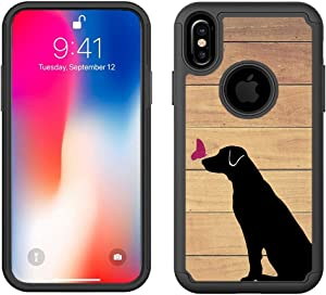 CorpCase - Hybrid Case for iPhone Xs Max - Labrador Retriever Dog/Unique Case with Great Protection