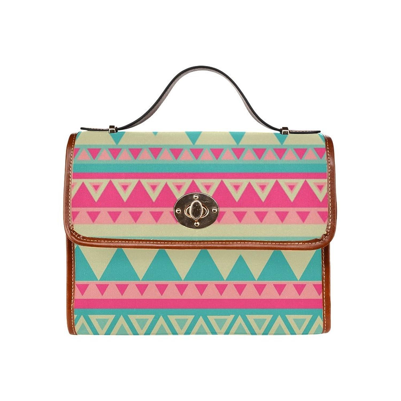 D-Story Custom Aztec Tribal Canvas Bag Tote Bag Handbag