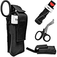 Roloiki 3 in 1 Trauma Kit Tourniquet with Trauma Shear and Storage Pouch Holder Outdoor Tactical Emergency First Aid Kit
