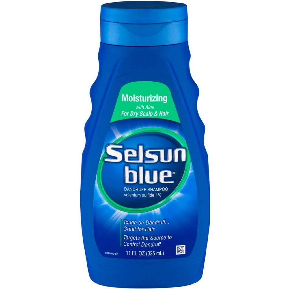 Selsun Blue Moisturizing with Aloe Dandruff Shampoo 11 oz (Pack of 3) by Selsun Blue