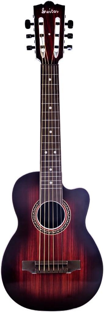 Foxom Guitarra Niños 27 Pulgada Infantil Guitarra Juguetes con 6 Cuerdas de Metal - Instrumento Musical para Niño y Niña de 3 años +
