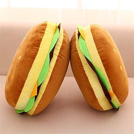 denfants en Peluche Hamburger Couvre-lit Taie doreiller canap/é en Peluche Coussin Chaise de Bureau LuuBoes t/él/éphone Taie doreiller