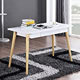 White Wood Dining Table Mixcept Computer Desk 47