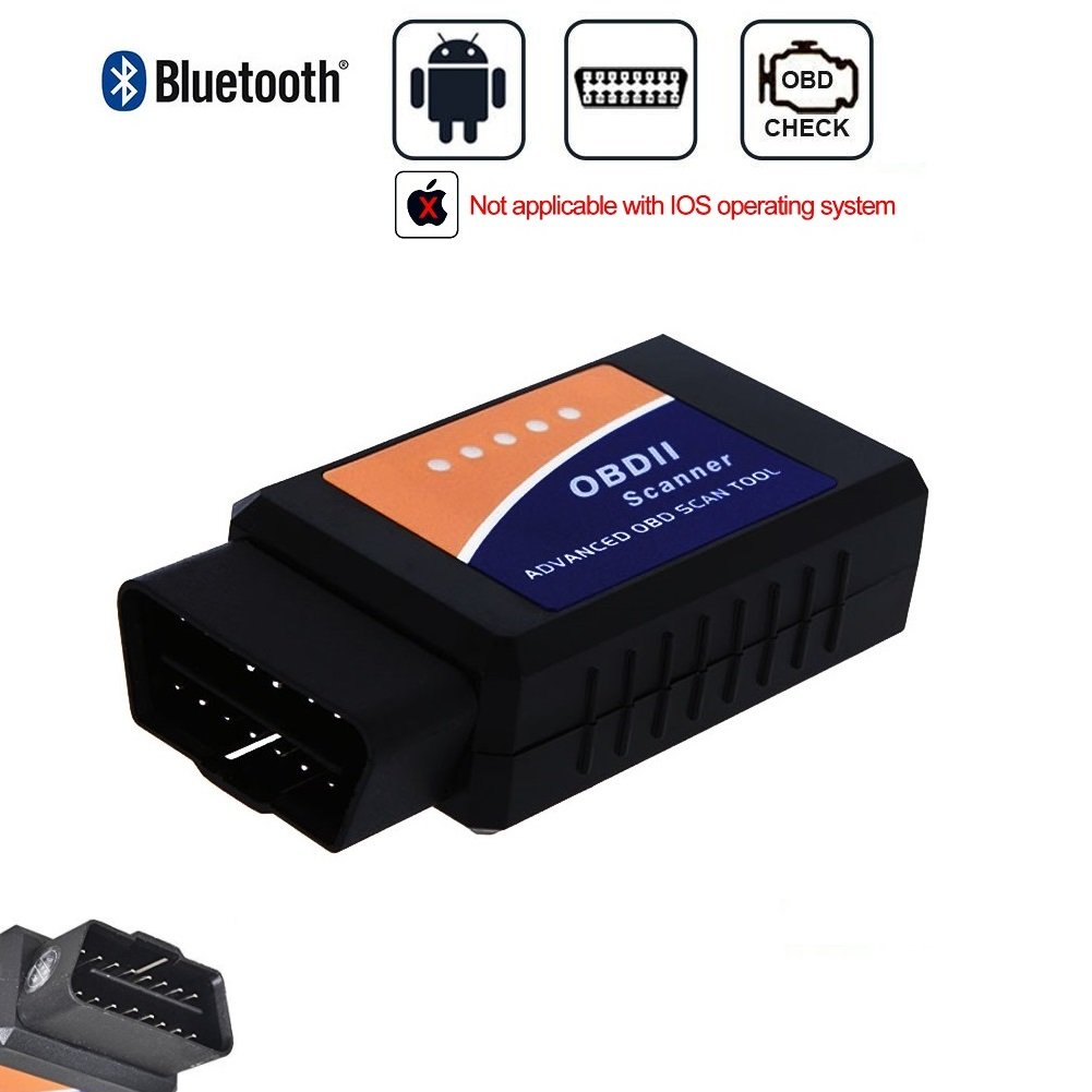 Golvery Car Bluetooth OBD OBD2 OBDII Diagnostic Scan Tool, Mini Wireless OBD Scanner Adapter, Check Engine Light Diagnostic Trouble Code Reader for Most Vehicles, for Android & Windows SmartPhone/PC by Golvery (Image #1)