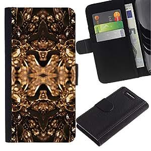 iKiki Tech / Cartera Funda Carcasa - Copper Golden Bling Brilliant Jewels Design - Sony Xperia Z1 Compact D5503