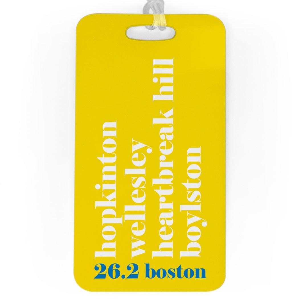 Boston Run Mantra SMALL Custom Info on Back Running Luggage /& Bag Tag BLUE
