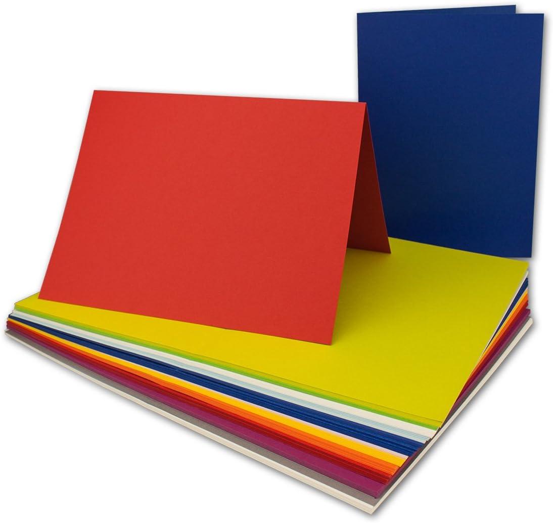 50x F/ür Drucker geeignet Qualit/ätsmarke: NEUSER/® FarbenFroh/® DIN B6 Faltkarten-Set in Hellblau 17,6 x 11,9 cm Ideal f/ür Einladungskarten und Gru/ßkarten mit Umschl/ägen /& Einlegebl/ätter