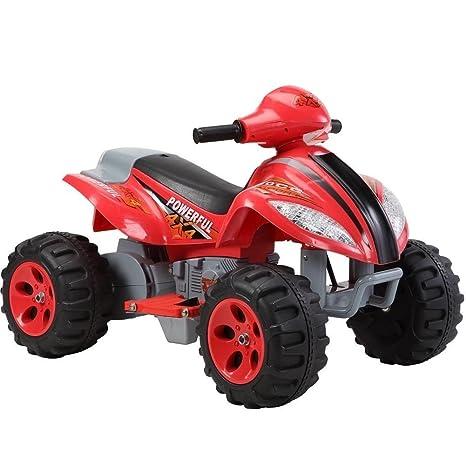 Quad Eléctrico para Niños Mini Moto 4 ruedas x Power 6 V Rojo