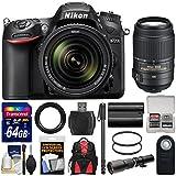 Nikon D7200 Wi-Fi Digital SLR Camera & 18-140mm VR DX & 55-300mm VR & 500mm Lenses with 64GB Card + Backpack + Battery + Monopod Kit