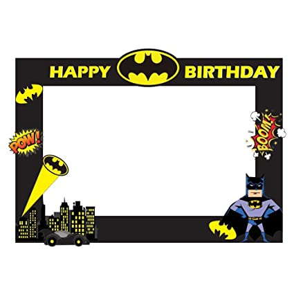 Buy Party Propz Batman Theme Photobooth Frame (2ft) Online at Low ...