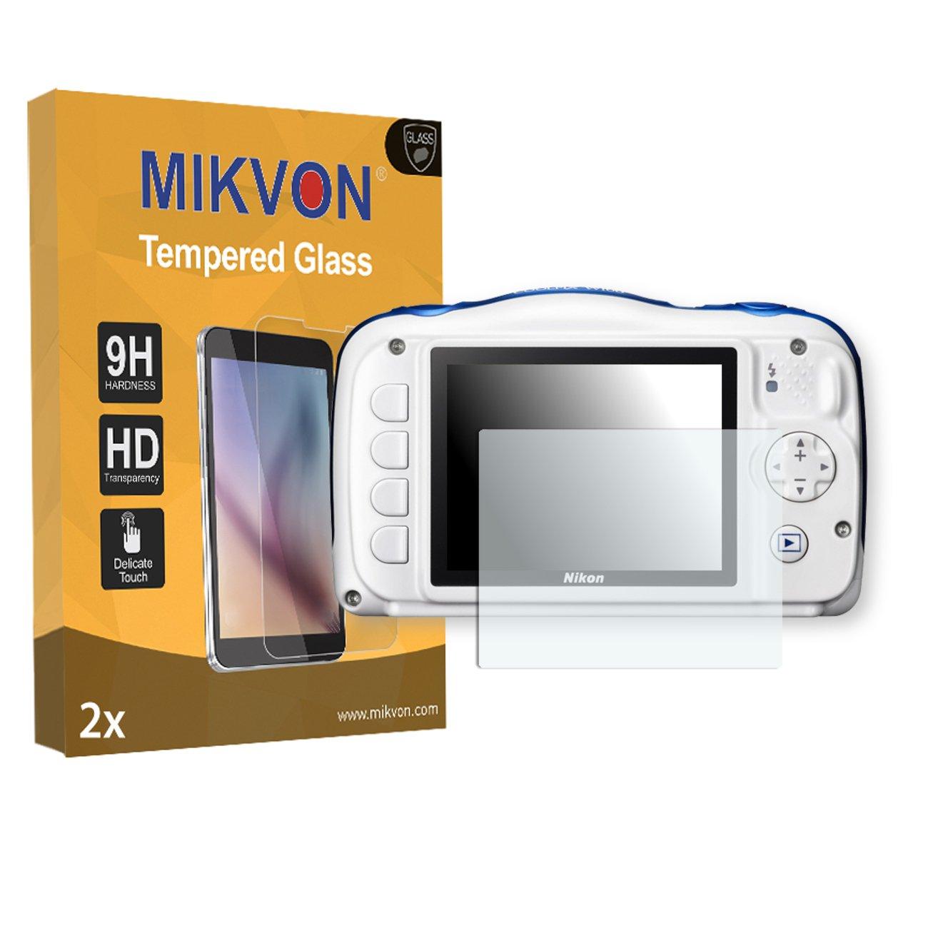 MIKVON 2X Flessibile Tempered Glass 9H per Nikon COOLPIX W100 Pellicola Protettiva Confezione ed Accessori