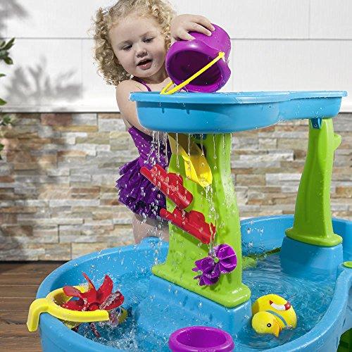 61xCj6 8egL - Step2 874600 Rain Showers Splash Pond Water Table Playset, Small Pack, Multi-Colored
