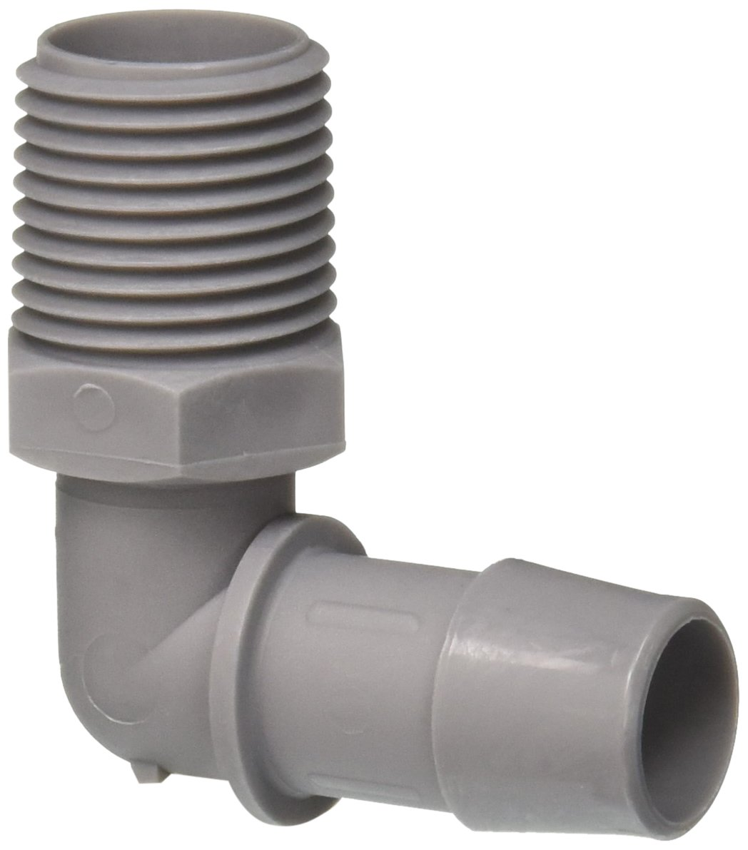 1//2-14 npt Thread Eldon James Adapter 3//8 in hose Thread to Barb lot of 6