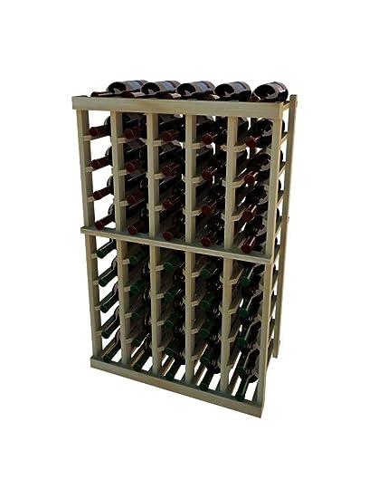 New Premium Redwood Wine Rack 1 Column 16 Magnum Bottle Home & Garden