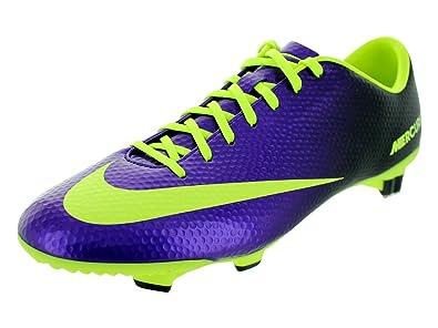 Nike Men s Mercurial Veloce FG Electro Purple Volt Black Soccer Cleats 7  Men US d2ab60b5265d