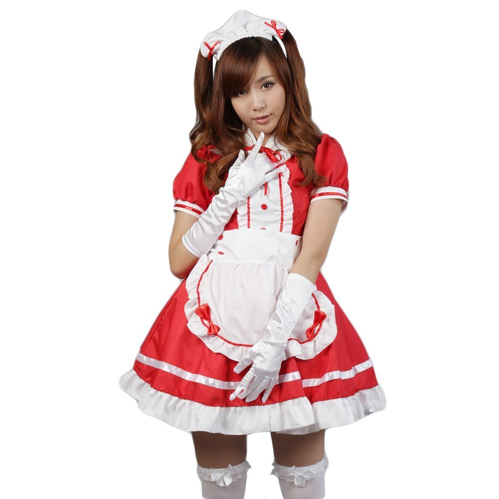 AvaCostume Anime Cosplay Lolita Maid Halloween Fancy Dress Costumes Outfit 01-ANP-15769
