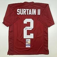$149 » Autographed/Signed Patrick Surtain II Alabama Red College Football Jersey JSA COA