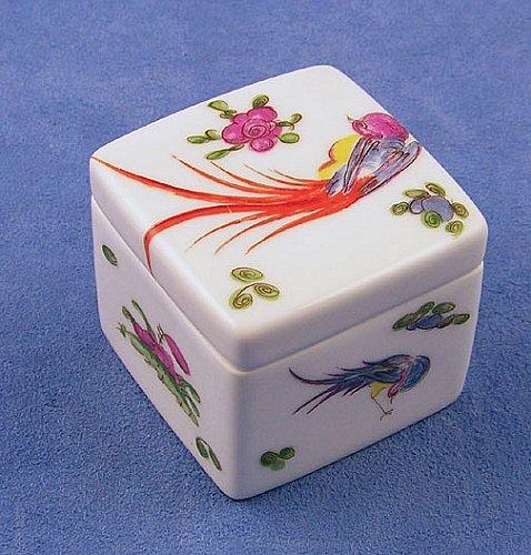 Limoges Bird & Floral #2 Cube Box ()