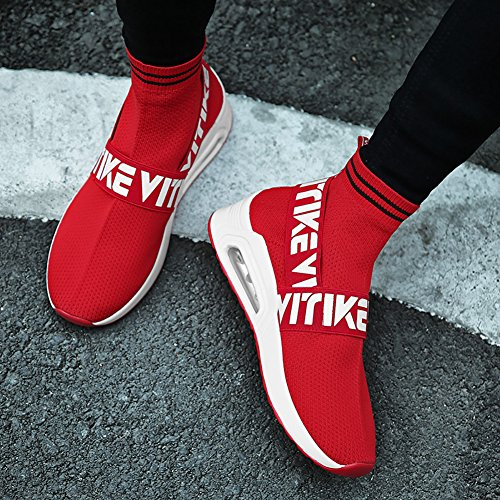 VITIKE Ladies Trainers Women's Sports Running Shoes Air Max Sneaker Running Jogging Trainers for Girls BoysParent-Child Shoes Socks Shoes 1-Red 5iq8inm