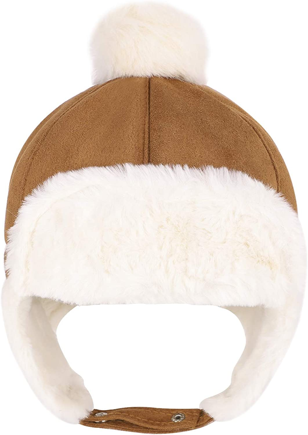 Baby Winter Warm Suede Trooper Bomber Hats Cap Earflap For 6-24 Month Boys Girls