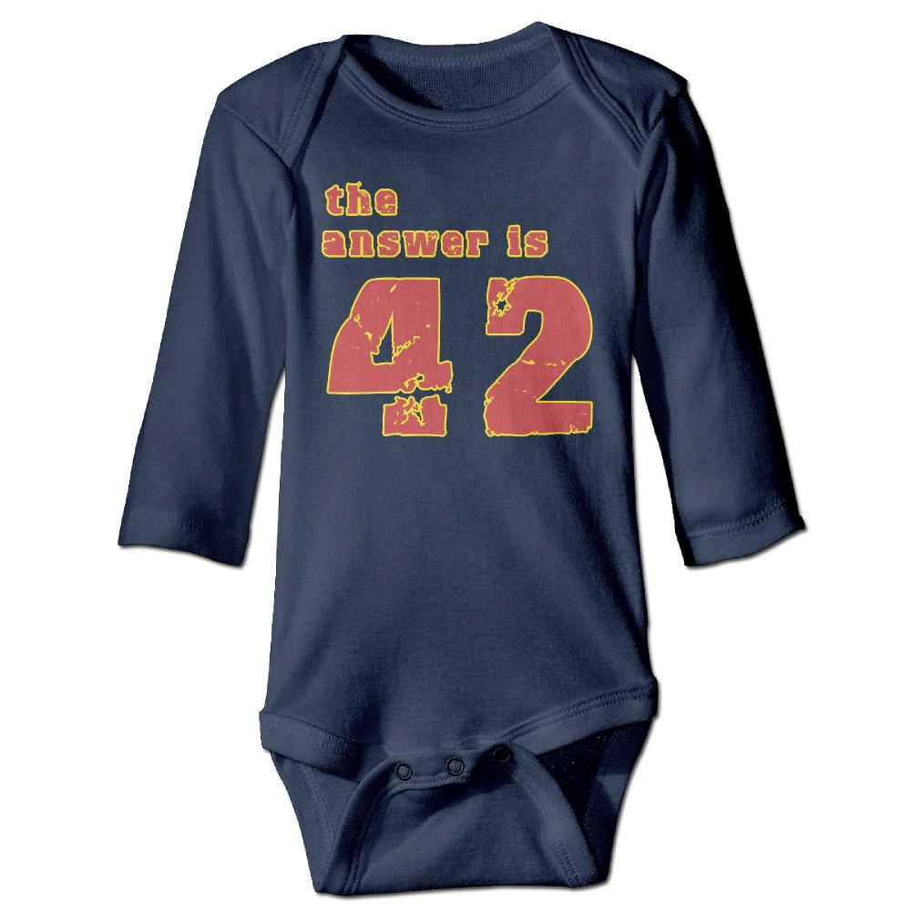 CreativeBB Unisex Baby Onesies The Answer is 42 Long Sleeve