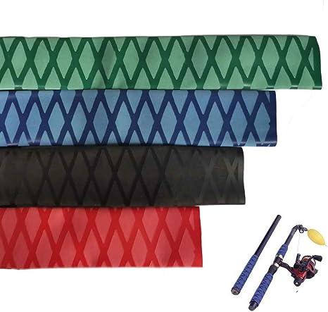 1M Red Textured Heat Shrink Wrap Tubing Fishing Rod Handle Cork Non slip New