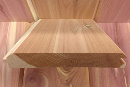 Aromatic Eastern Red Cedar Tongue And Groove Paneling   4 1/2u0026quot; X  96u0026quot