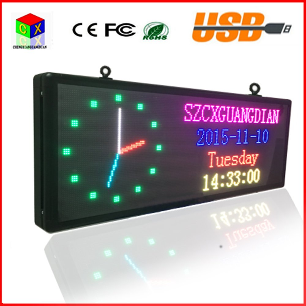 Amazon.com : P5 SMD3528 LED display panel indoor advertising RGB 7 color advertisement size:103cmX39cm(40x15) led sign : Office Products