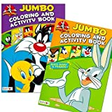 Looney Tunes Coloring Book Set (2 Books - 96 Pages)