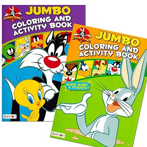 looney tunes coloring book set with stickers 2 books 96