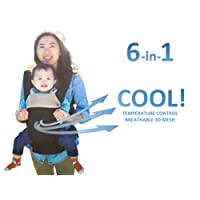 All Seasons 360 Ergonomic Baby Carrier - 6 Position, Easy Breastfeeding, No Infant Insert Needed, Adapt to Growing Baby (Newborn, Infant & Toddler), Great Hiking Backpack carrier - PATENT PENDING