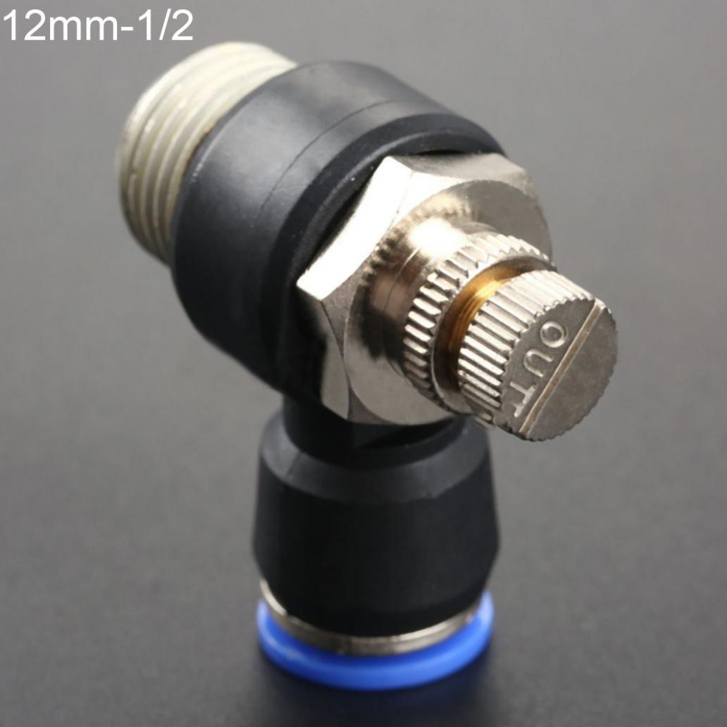 4//6//8//10//12/mm pneumatique Speed Flow Controller Coude filet/é Push dans Fixation