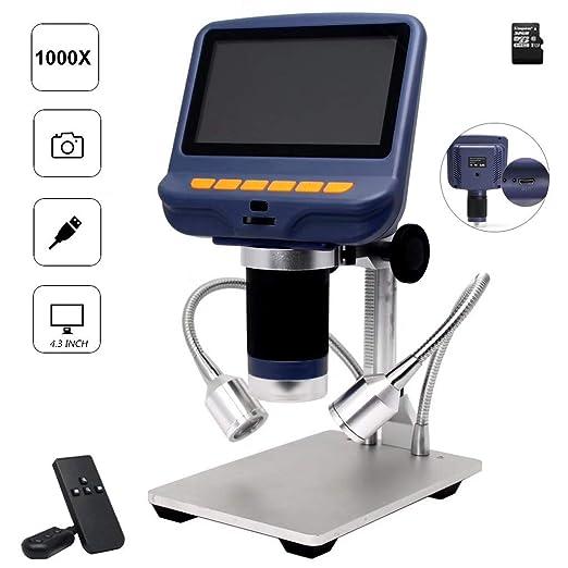 XDDWD USB HD Microscopio Electrónico, 4.3 Pulgadas LCD ...