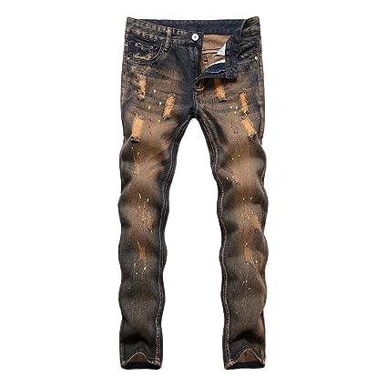 Karinao - Pantalones vaqueros largos para hombre, estilo ...