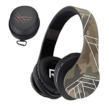Powerlocus Casque Bluetooth Sans Fil Casque Audio Stéréo Pliable