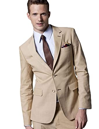 Amazon.com: CALVINSUIT Traje de hombre Casual Slim Fit ...