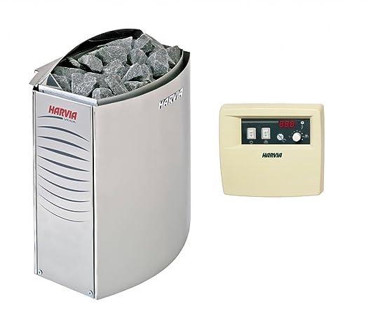 Harvia Vega-Estufa eléctrica para sauna 8 kW con unidad de control independiente Harvia C90