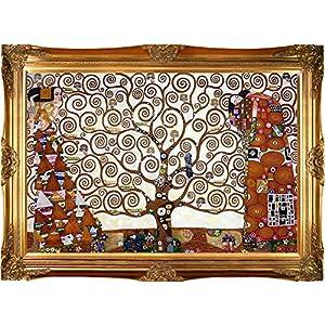gustav klimt tree of life stoclet frieze framed oil painting