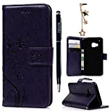 HTC One M9 Case,HTC M9 Case- MOLLYCOOCLE® [Natural Luxury Purple]Stand Wallet Purse Credit Card ID Holders Magnetic Flip Folio TPU Soft Bumper PU Leather Ultra Slim Fit Skin Cover for HTC One M9