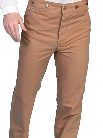 1920s Style Men's Pants & Plus Four Knickers Canvas Pants Tall  AT vintagedancer.com