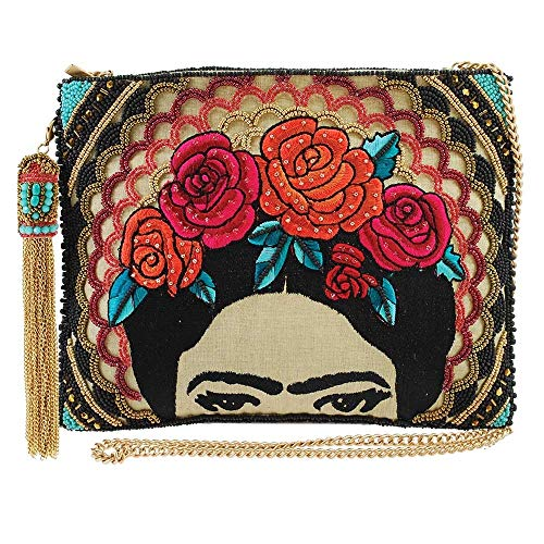 MARY FRANCES Frida Beaded-Embroidered Crossbody Clutch Handbag