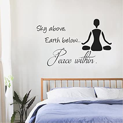 Amazon.com: BATTOO Wall Decals Quotes- Sky Above, Earth Below, Peace ...