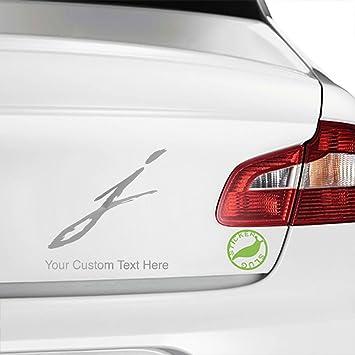 Stickerslug custom metallic silver 5 inch letter j style 11 custom text decal sticker for car