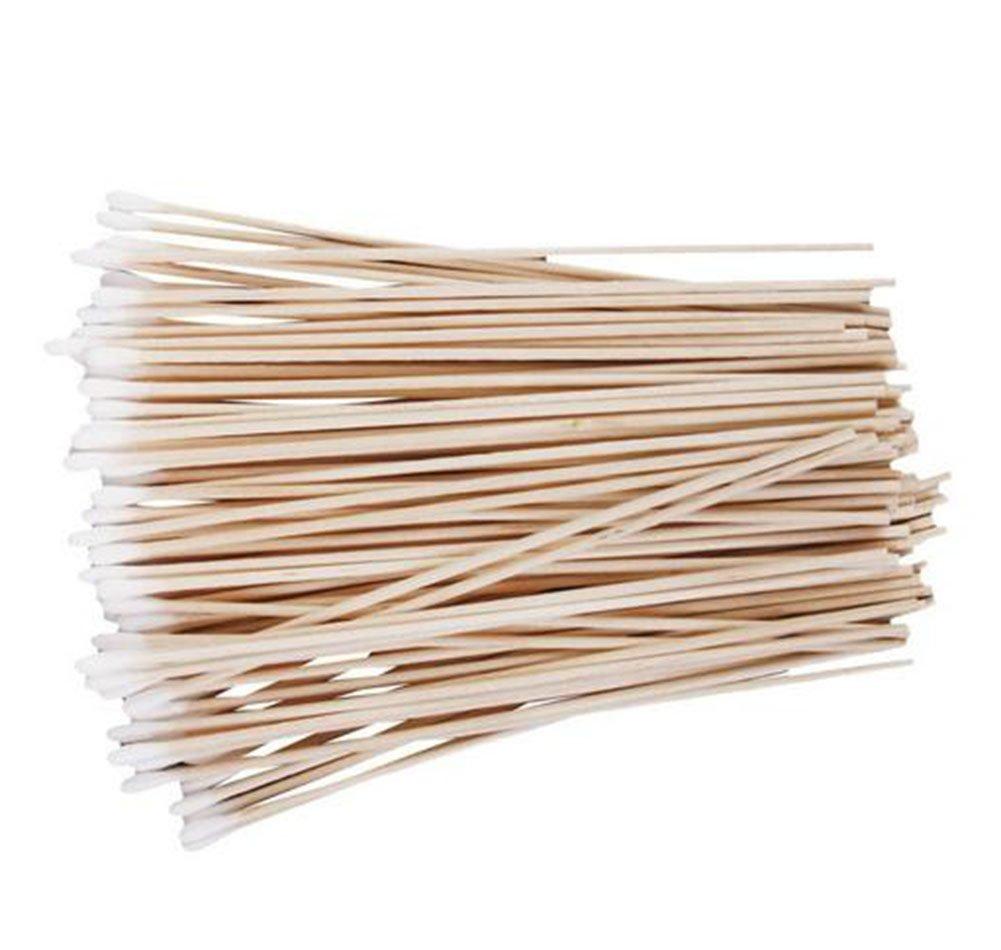 wdoit einzigen – Clean Cotton Swab Desinfektion Wattestäbchen Hygiene Cotton Swab Clean Cotton Ruten einzigen Kopf Holz Baumwolle