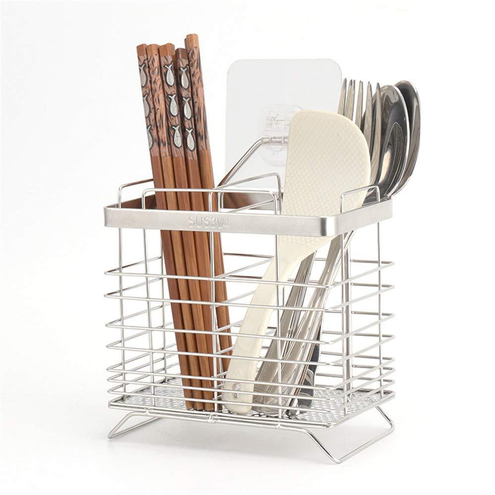 Zhangcaiyun Drying rack Stainless Steel Drain Rack Chopsticks Spoon Set Storage Box Chopstick Holder Drainage board