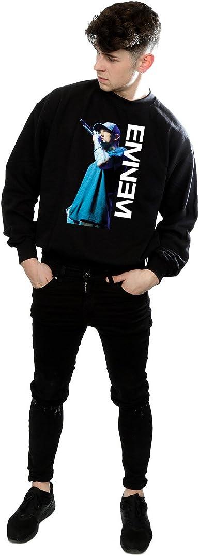 Eminem Hombre Mic Pose Camisa De Entrenamiento: Amazon.es ...