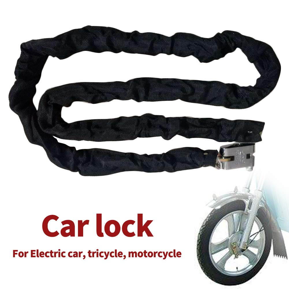 bicicleta port/átil metal resistente y duradero apto para motocicleta negro antirrobo Candado de cadena de 1,8 m