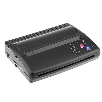 MagiDeal Transferencia de Tatuaje Máquina de Impresora Copia Fabricante Termal de Plantilla Enchufe EU - Negro