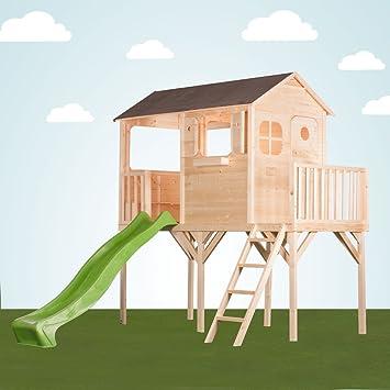 Couleur garden - Grande cabane enfant patio sur pilotis de 1m20 avec ...